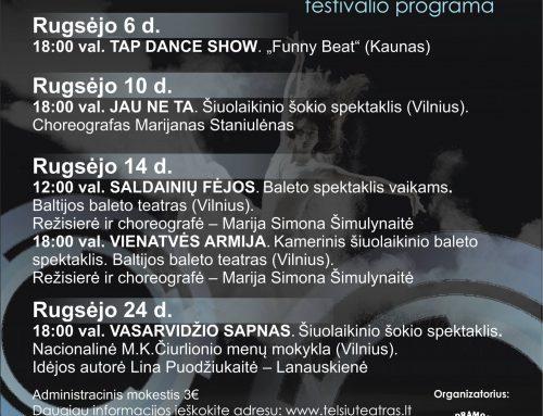 Profesionalaus šokio festivalio programa